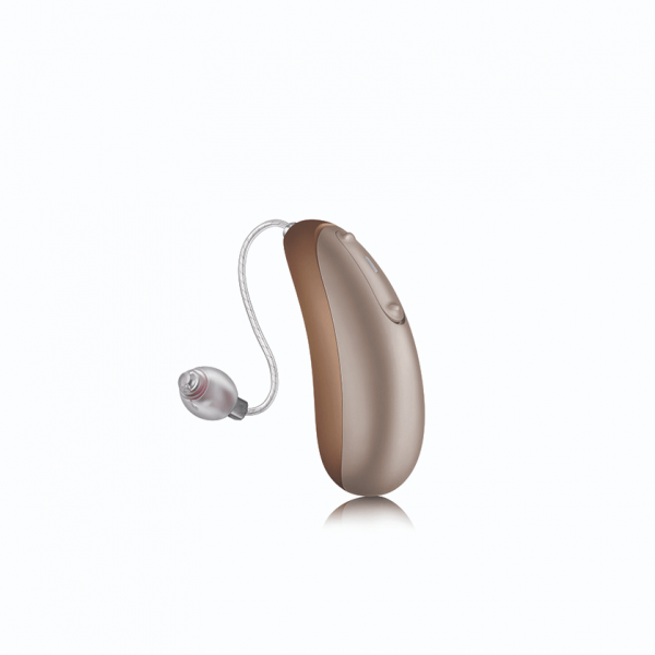 Unitron Discover Jump 9 Rechargeable Hearing Aids - Amber Suede