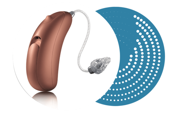 Unitron Moxi Fit 500 Hearing Aid - Amber Suede